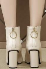 Carley Booties-zip back