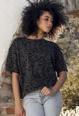 Brunette the label Leopard boxy tee XS/S