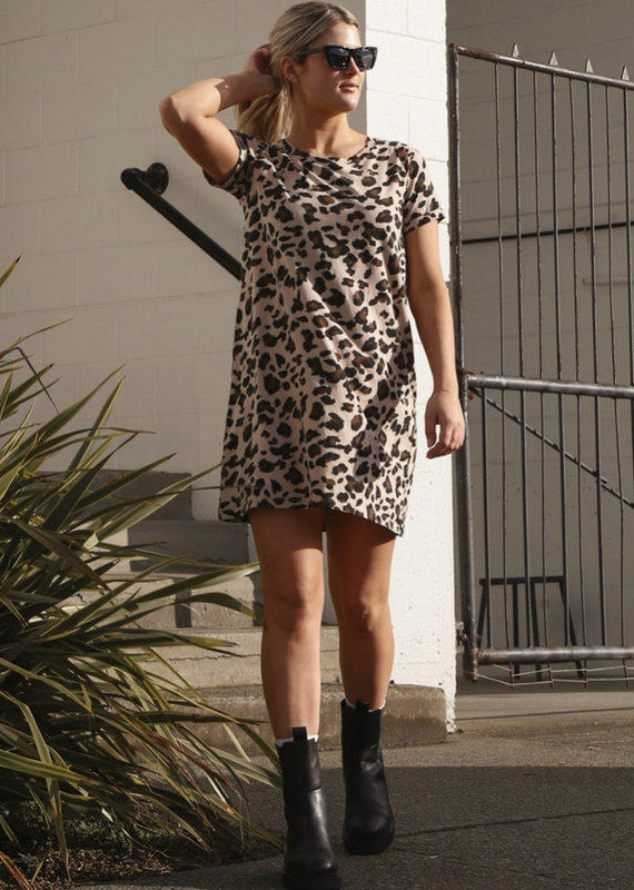 Brunette the label Leopard T-shirt dress