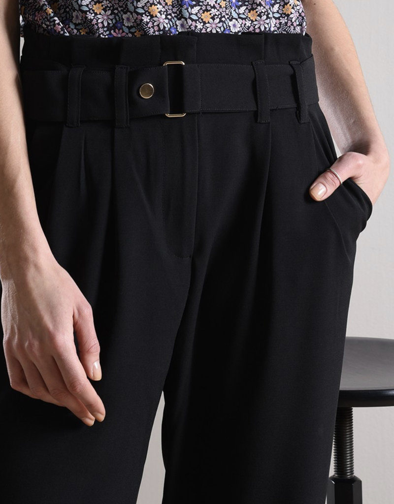 Paper bag waist pant-premium