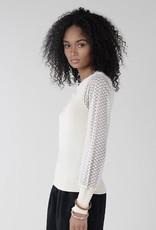 Sheer sleeve sweater