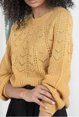 Chevron knit sweater