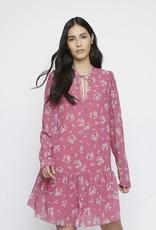 Pink floral boho dress