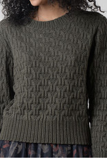 Melange knit sweater