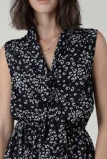 Floral neck tie dress