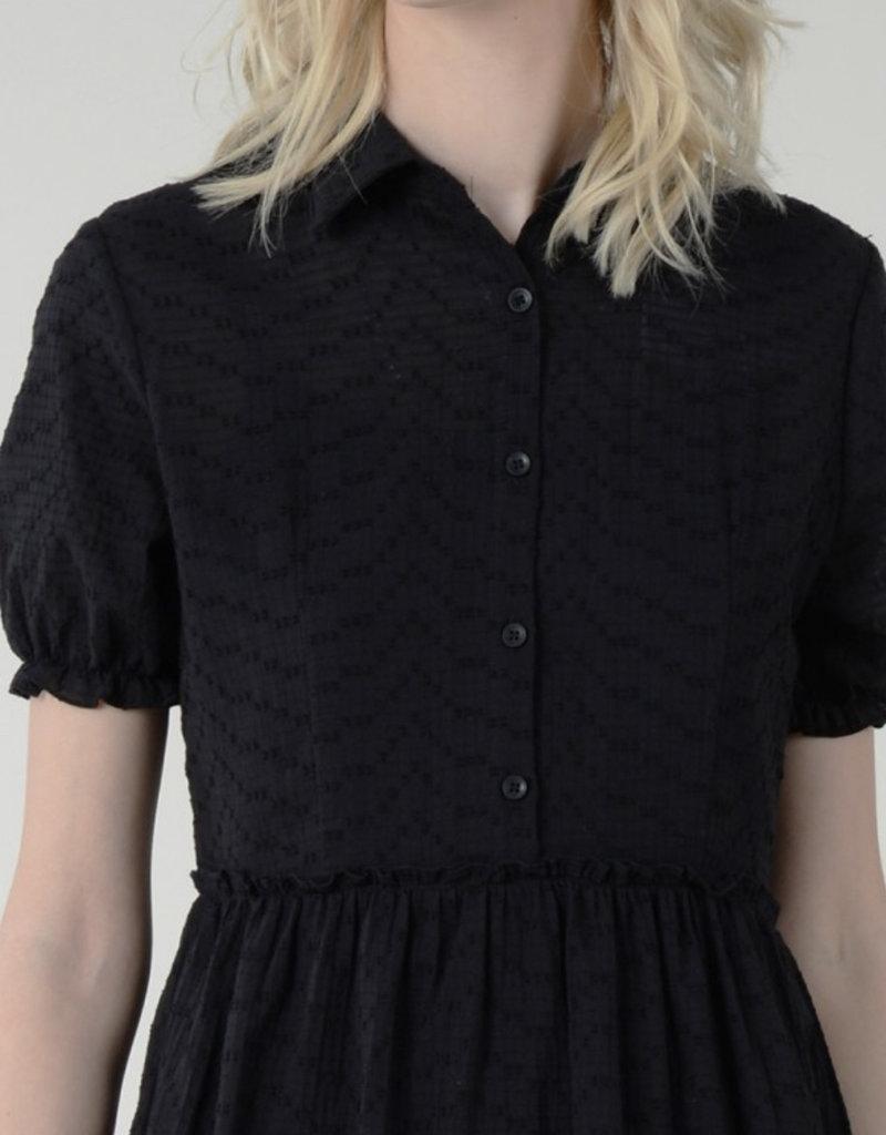 Boho collared dress s/s