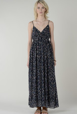 Abstract print maxi  braided strap