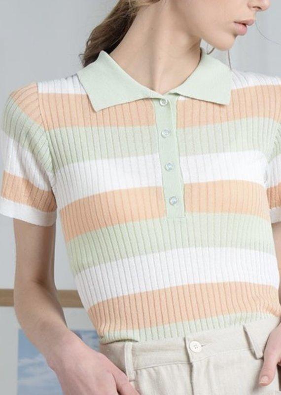 Polo knit top