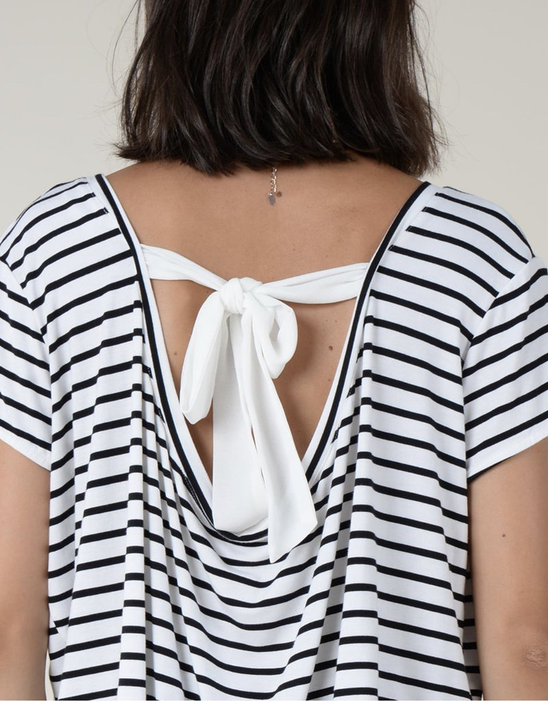 Paris stripe top tie back