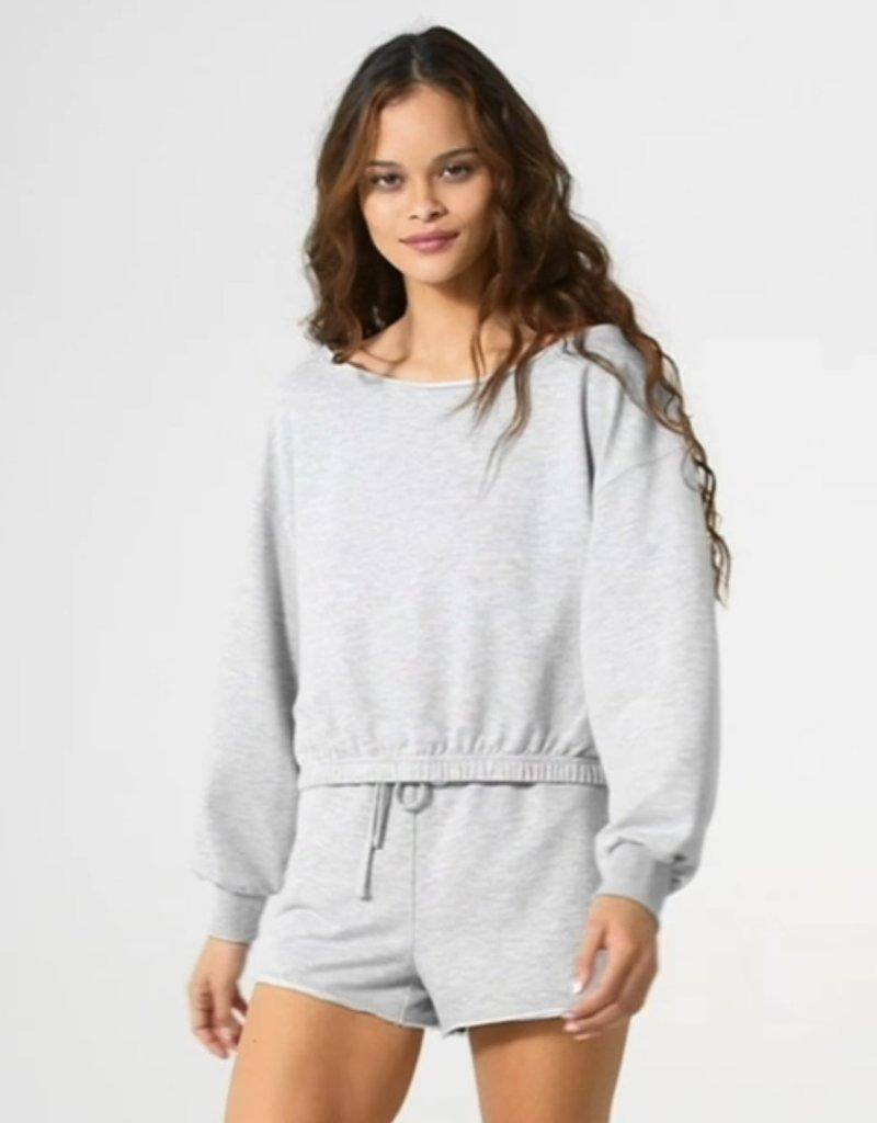 Z SUPPLY Zoe off shoulder sweatshirt