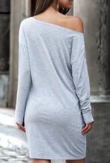 Tee dress off shoulders