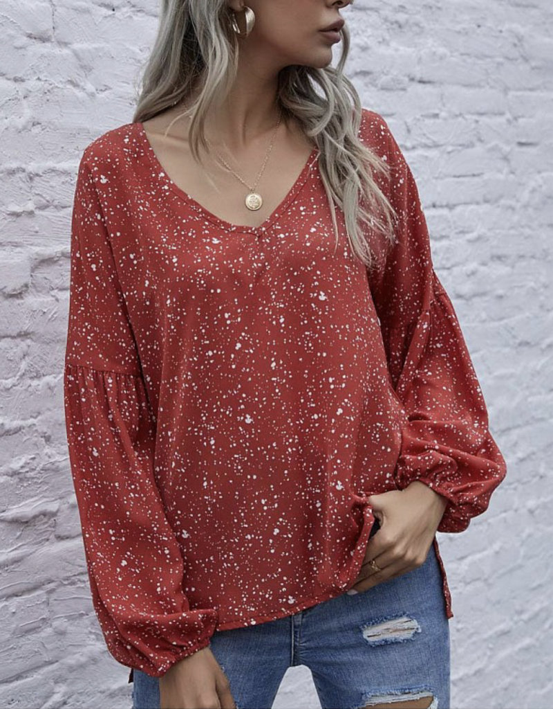 Rachelle dotted top