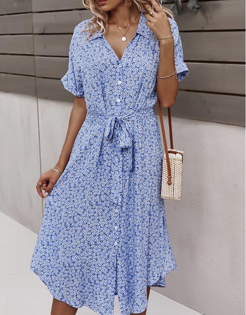 Casey floral shirt dress