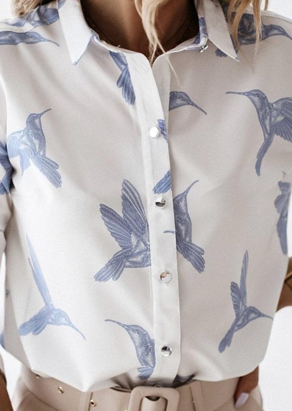 Blue bird top