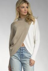 Darla Mockneck dual colour sweater