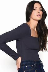 Ribbed Square neck bodysuit