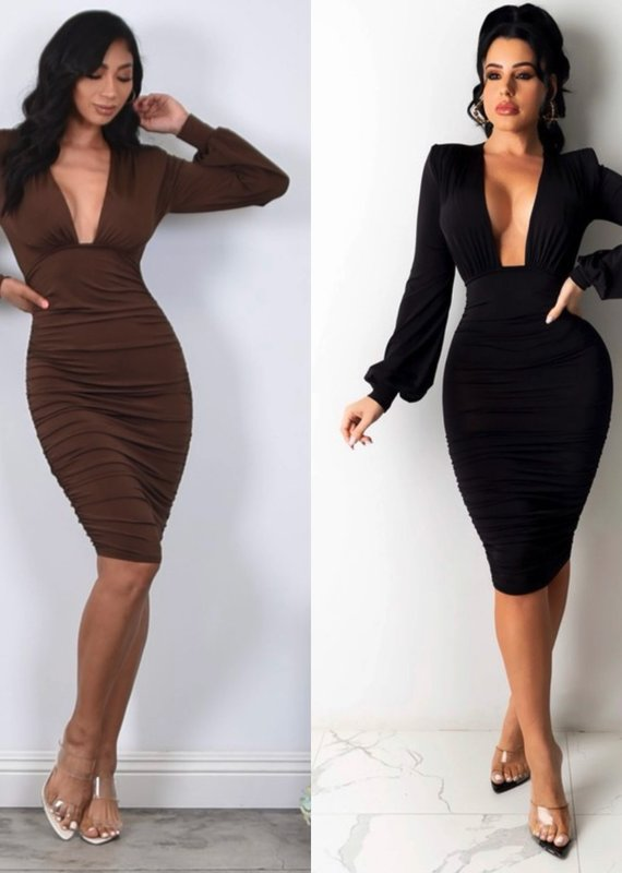 Gia ruched dress
