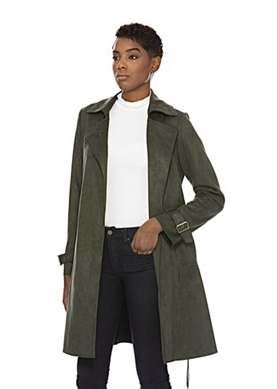 Kimmy faux suede coat