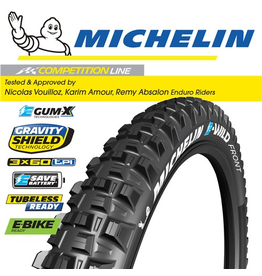 "MICHELIN TYRE MICHELIN E-WILD F COMPETITION  GUM-X 27.5x2.6"" FOLD"