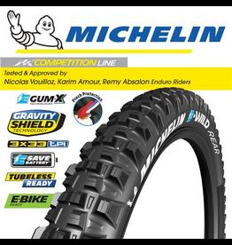 """MICHELIN MICHELIN E-WILD R COMPETITION GUM-X 27.5x2.6"""" FOLD TYRE"""