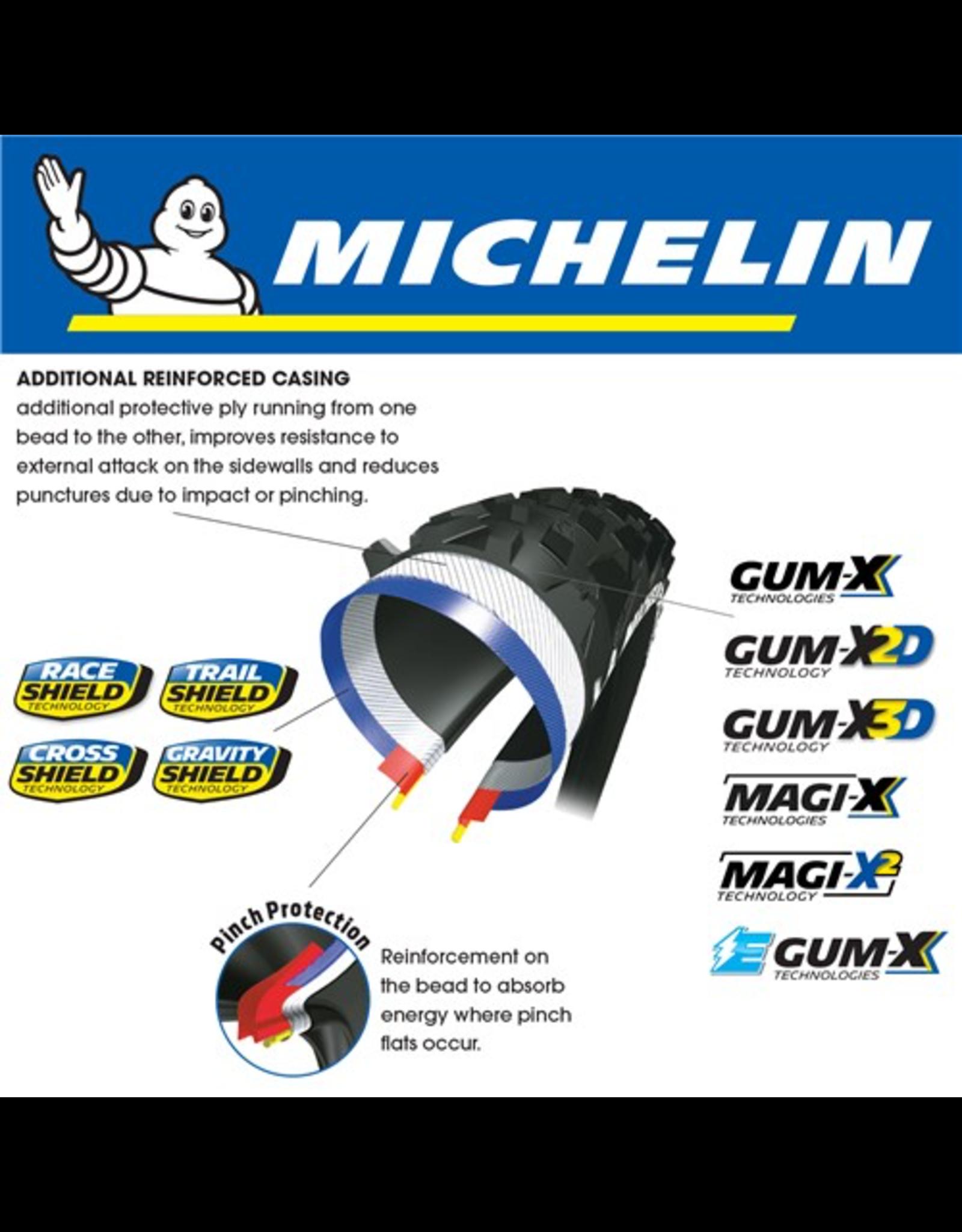 "MICHELIN TYRE MICHELIN WILD ENDURO R COMPETITION GUM-X3D 27.5x2.4"" FOLD"
