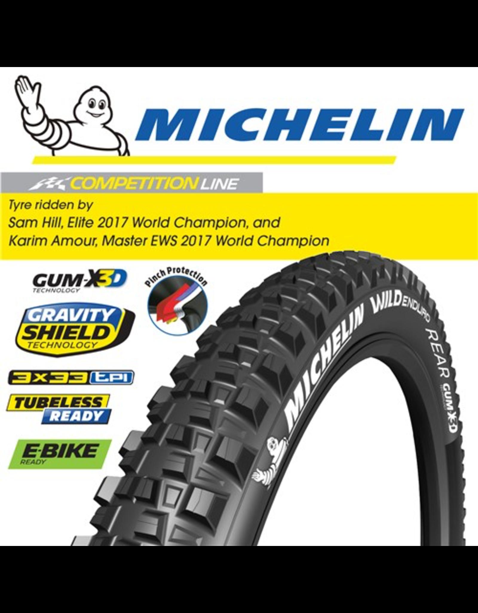 "MICHELIN MICHELIN WILD ENDURO R COMPETITION GUM-X3D 27.5x2.4"" FOLDTYRE"