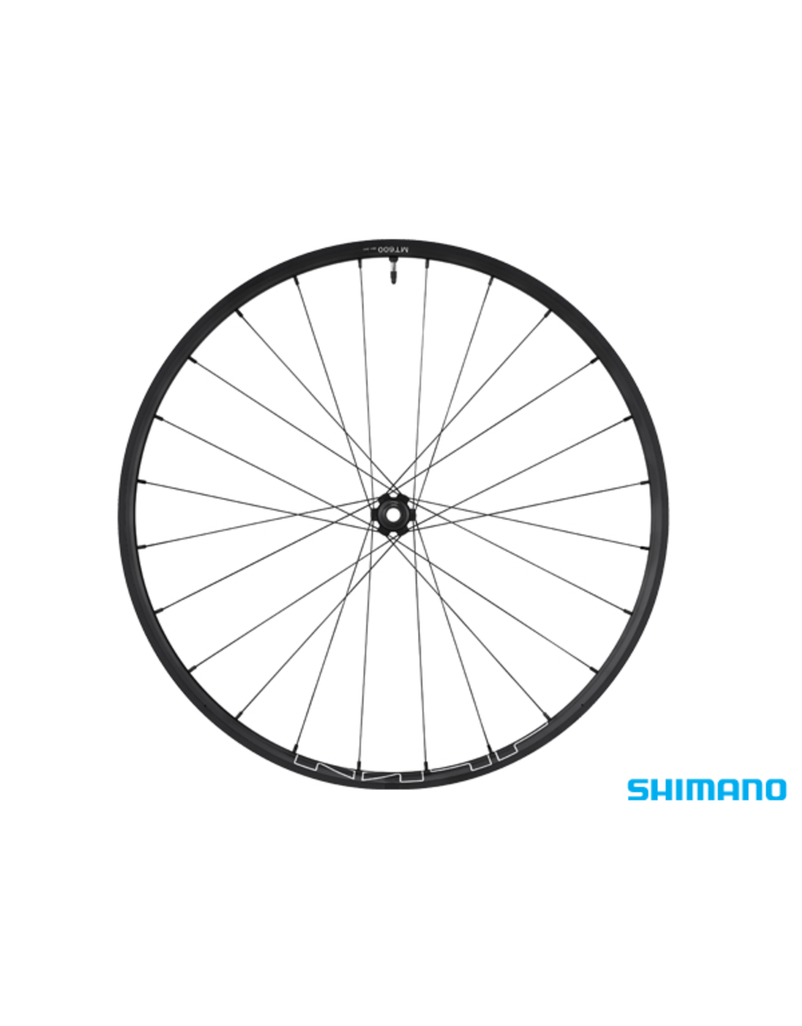 "Shimano WHEEL 27.5"" FRONT SHIMANO WH-MT600 BLACK 100x15mm CENTERLOCK TUBELESS"