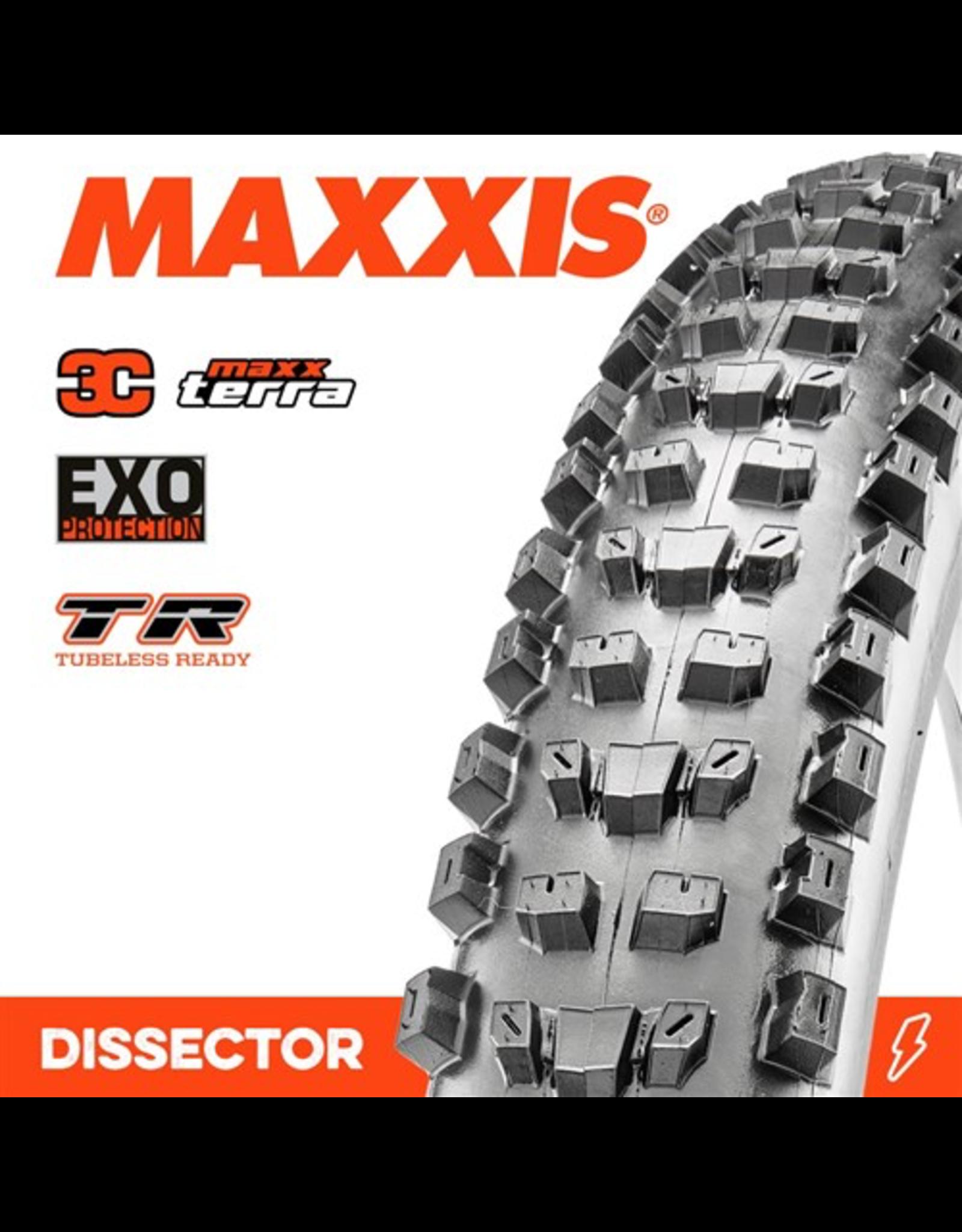 "MAXXIS TYRE MAXXIS DISSECTOR 29 X 2.40"" WT 3C MAXX TERRA EXO TR FOLD 60TPI"