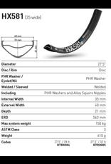 "DT Swiss DT SWISS HX581 27.5"" 28H RIM BLACK (35MM WIDE) E-BIKE COMPATIBLE"