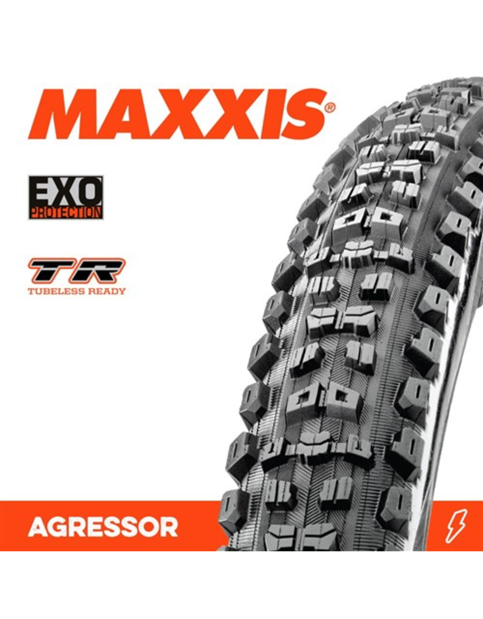 "MAXXIS TYRE MAXXIS AGGRESSOR 27.5 x 2.30"" TR EXO F 60TPI"