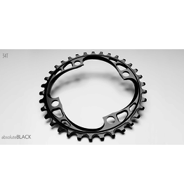 ABSOLUTE BLACK CHAINRING ABSOLUTE BLACK 4 BOLT 104 X 34T BLACK