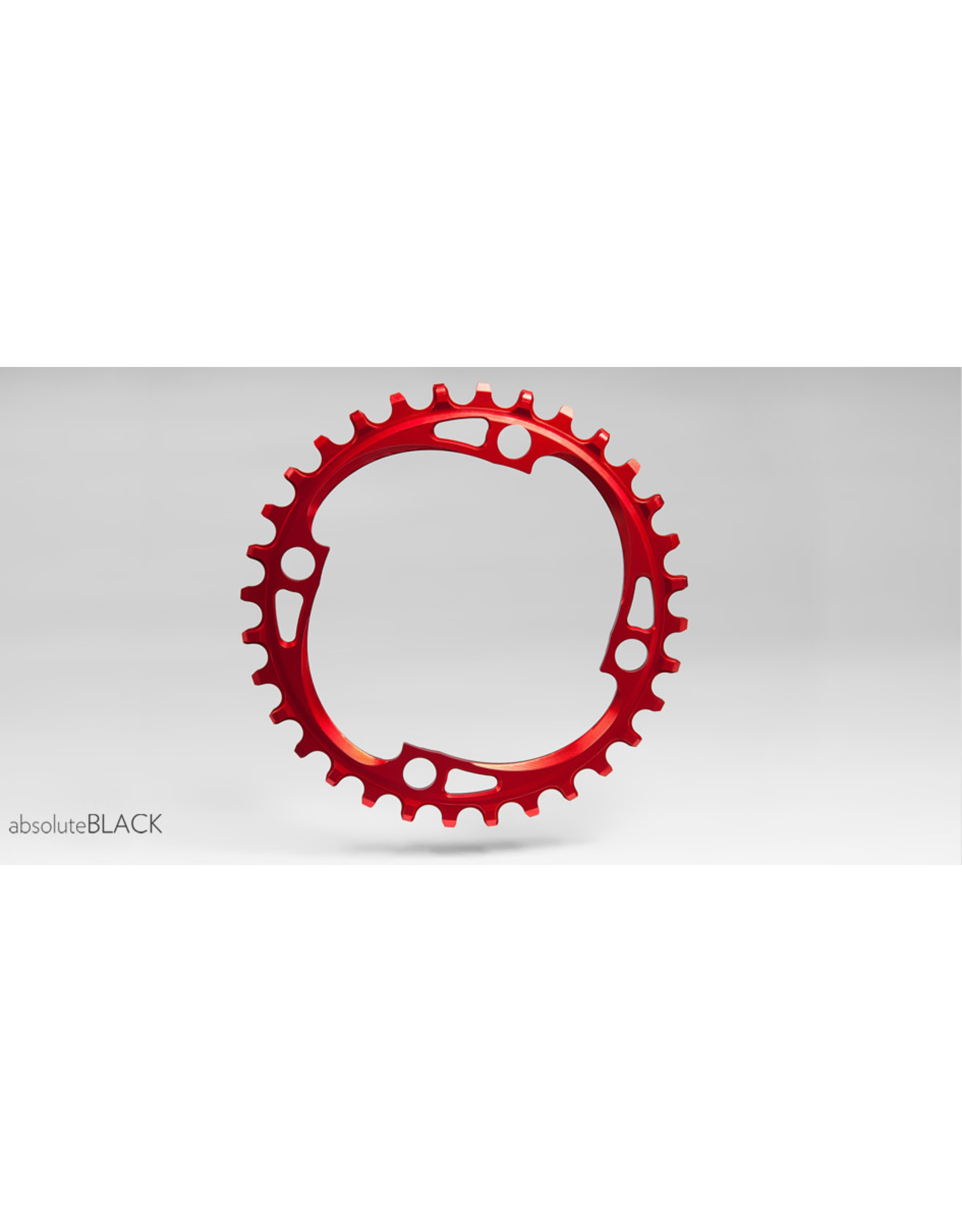 ABSOLUTE BLACK CHAINRING ABSOLUTE BLACK 4 BOLT 104 X 34T RED