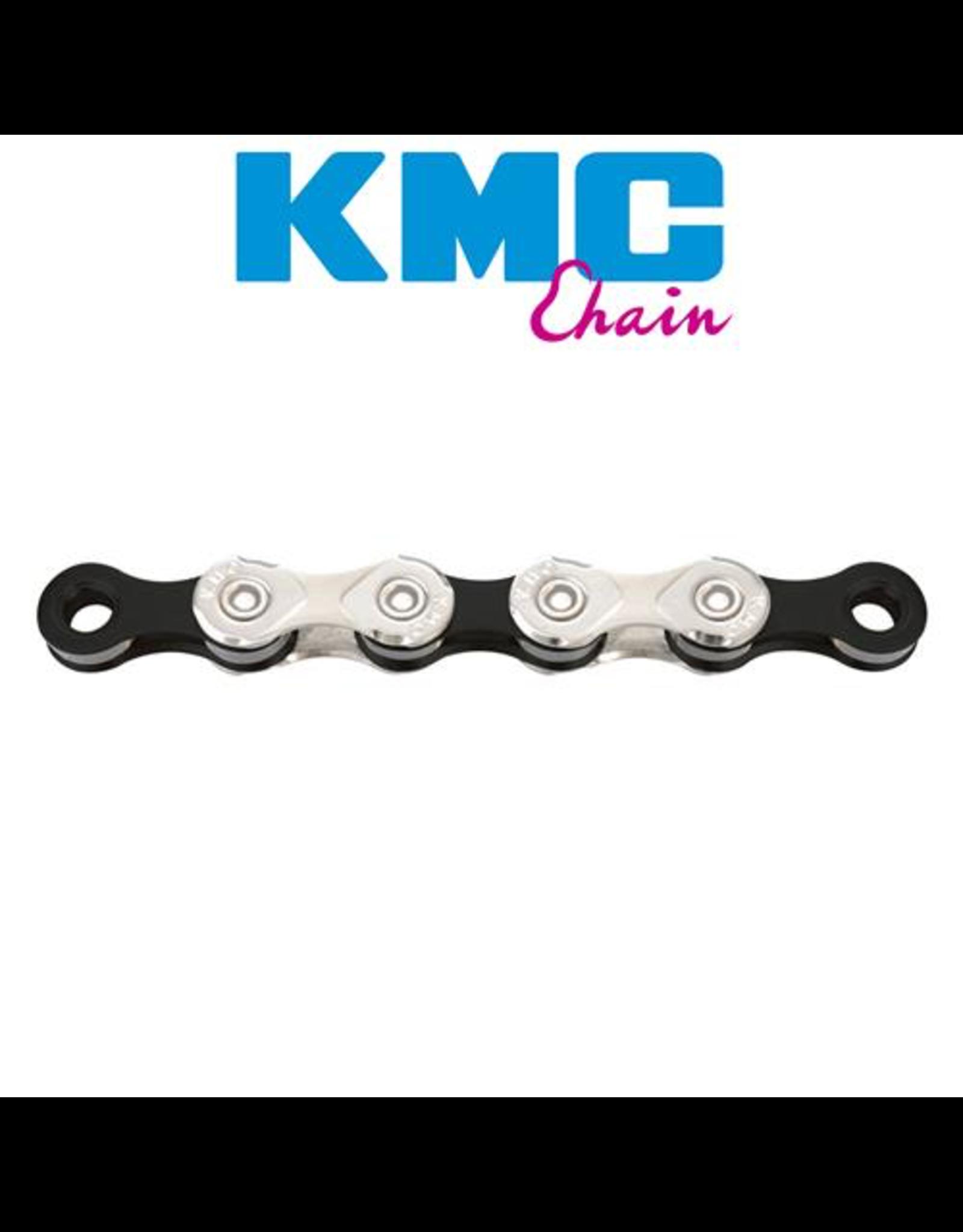 KMC KMC CHAIN X11 11 SPEED 116 LINK SILVER/BLACK ROAD/MTB
