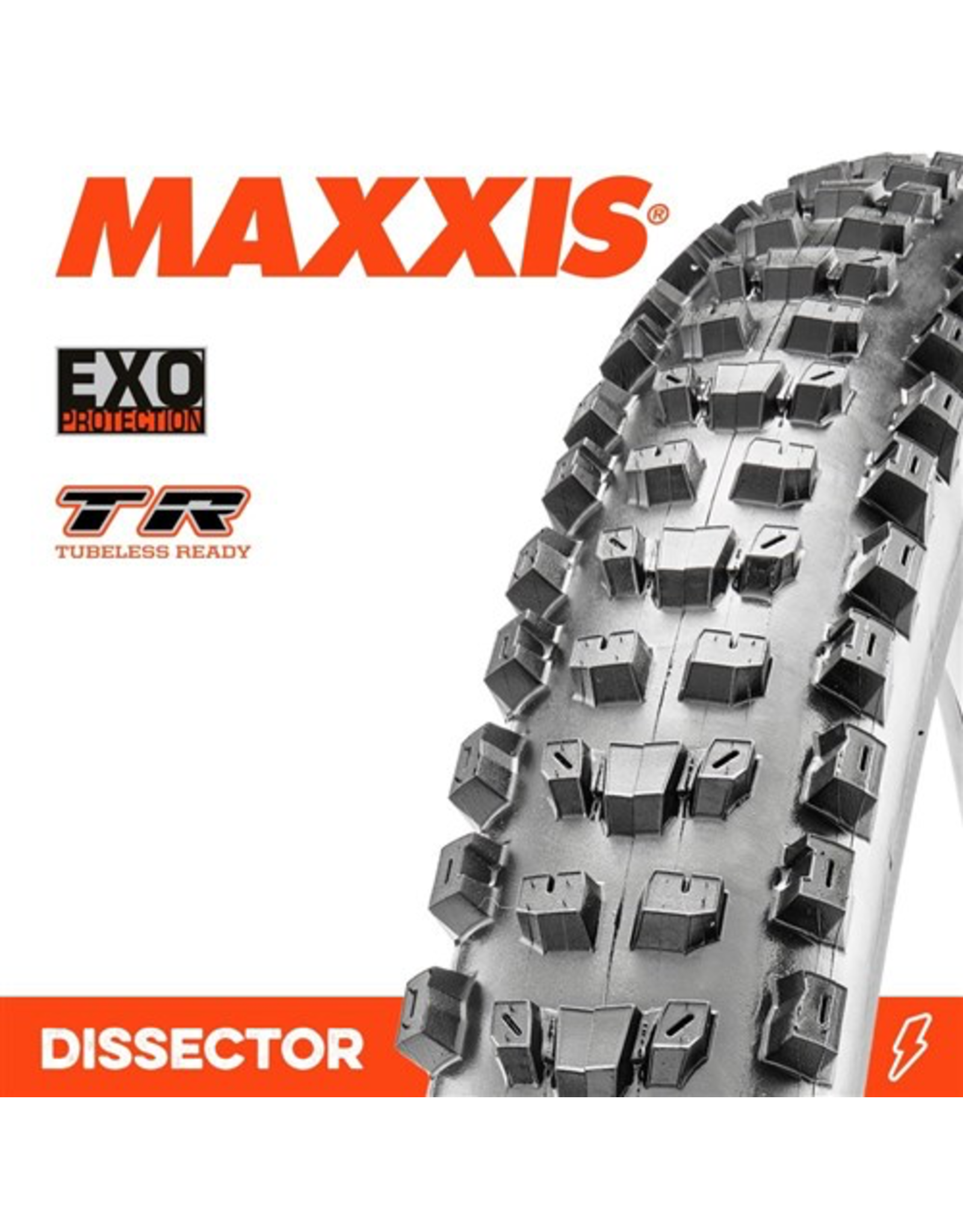 "MAXXIS TYRE MAXXIS DISSECTOR 27.5 X 2.40"" WT TR EXO FOLD 60TPI"