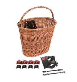 BIKECORP BASKET QUICK RELEASE WICKER TAN