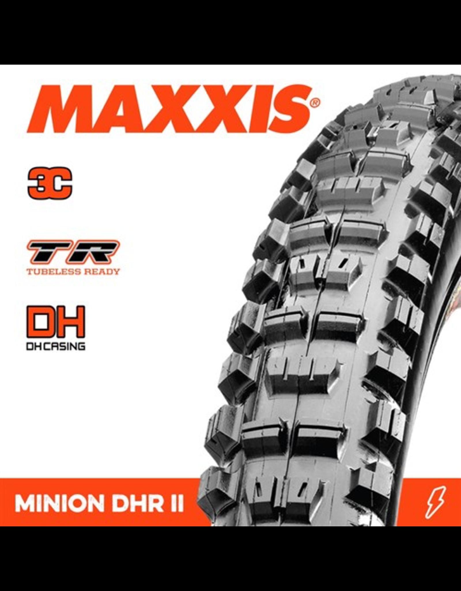 """MAXXIS TYRE MAXXIS MINION DHR II 27.5 X 2.40"""" TR WT DH 3C MAXX GRIP FOLD 60X2TPI"""