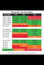 AZUR PUMP AZUR CO2 16 GRAM AIR CARTRIDGE THREADED