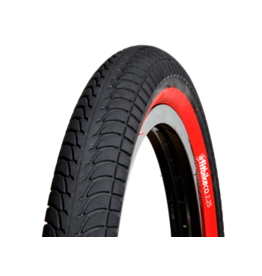 """Fitbikeco. TYRE FITBIKECO 18 X 2.25"""" BLACK/RED"""