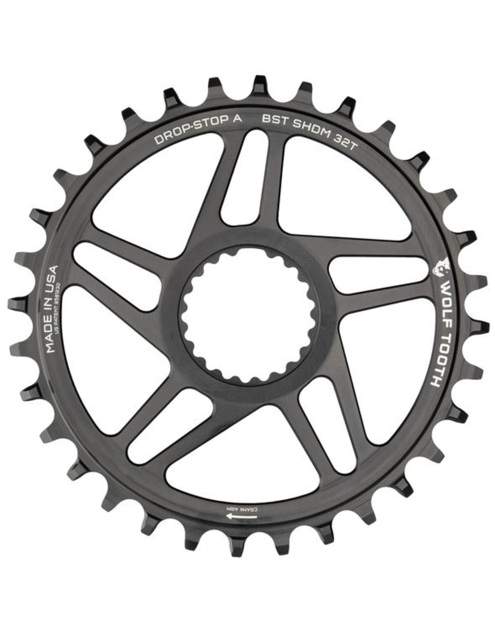 WOLF TOOTH CHAINRING WOLF TOOTH SHIMANO DM 12 SPEED 32T BOOST BLACK