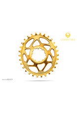 ABSOLUTE BLACK CHAINRING ABSOLUTE BLACK OVAL SRAM DM 30T GOLD