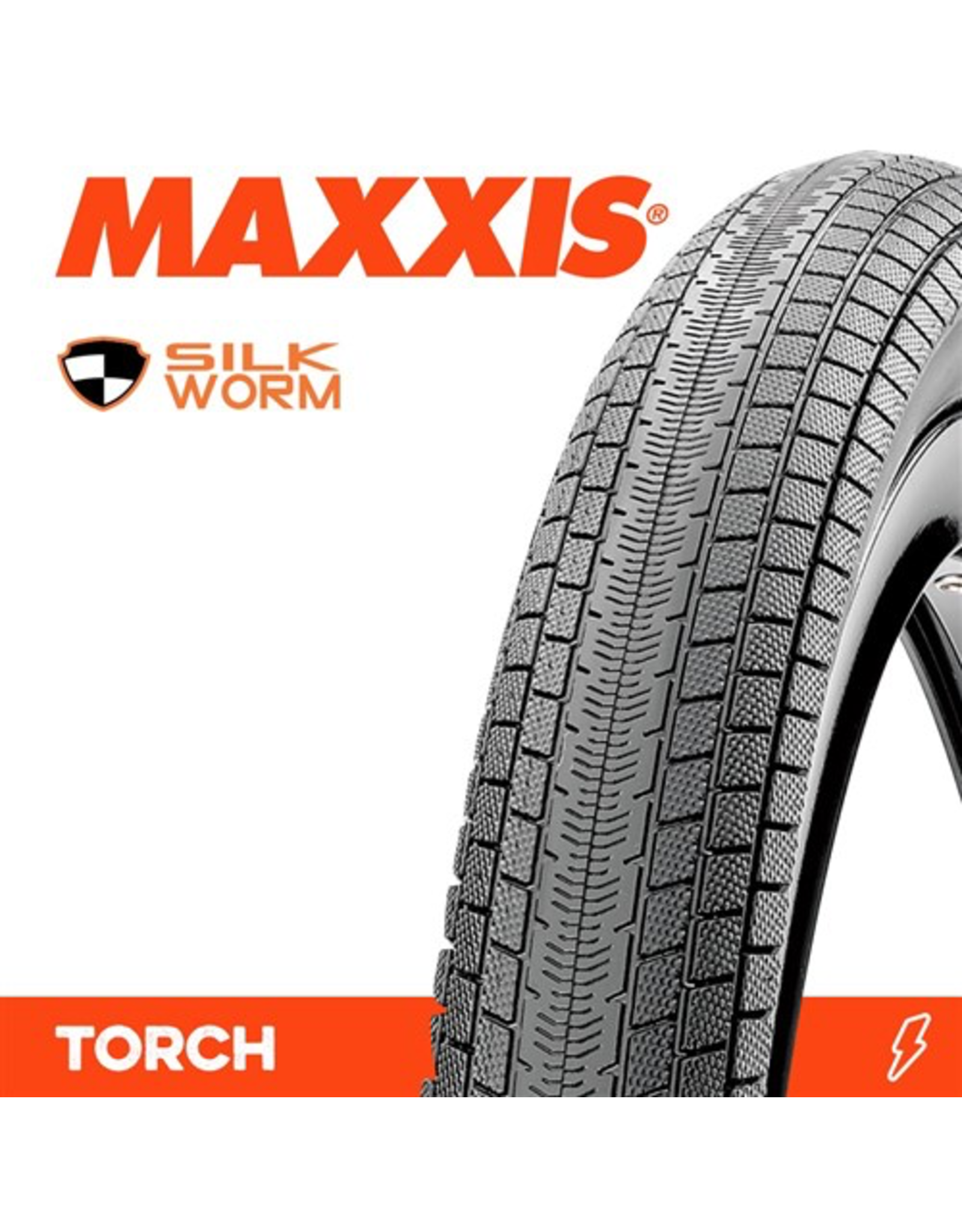 """MAXXIS MAXXIS TORCH 20 X 1-3/8"""" SILKWORM WIRE 60TPI TYRE"""