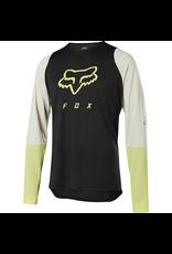 FOX JERSEY FOX '20 DEFEND FOXHEAD LS BLACK YELLOW