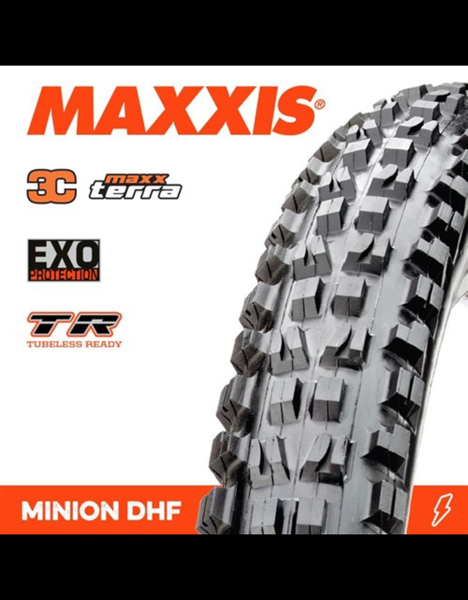 """MAXXIS TYRE MAXXIS MINION DHF 29 X 2.50"""" WT TR EXO 3C MAXX TERRA FOLD 60TPI"""