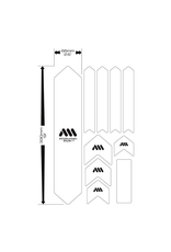 ALL MOUNTAIN STYLE ALL MOUNTAIN STYLE (AMS) FRAME PROTECTION XL CLEAR /SILVER