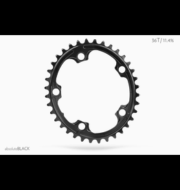 ABSOLUTE BLACK CHAINRING ABSOLUTE BLACK 5 BOLT OVAL 110 X 38 (2X) BLACK