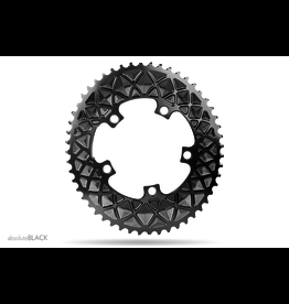ABSOLUTE BLACK CHAINRING ABSOLUTE BLACK 5 BOLT OVAL 110 X 52 (2X) BLACK