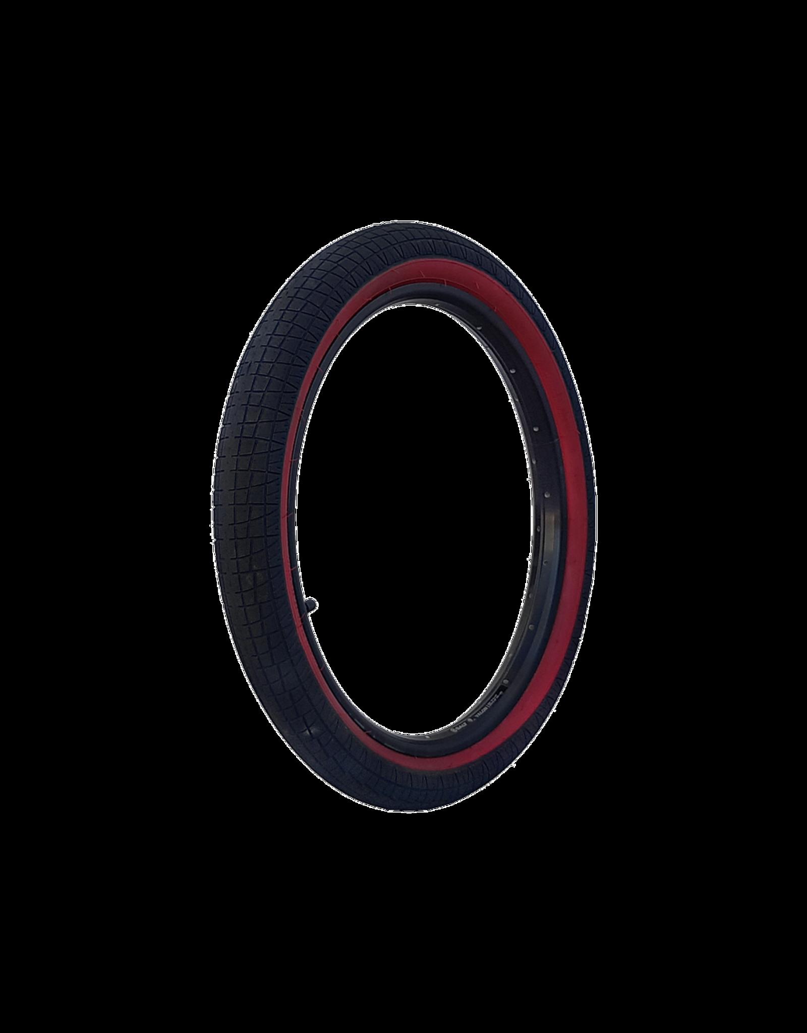 """DRS TYRE DRS ARROW FS 20 X 2.25"""" BLACK/RED WALL"""