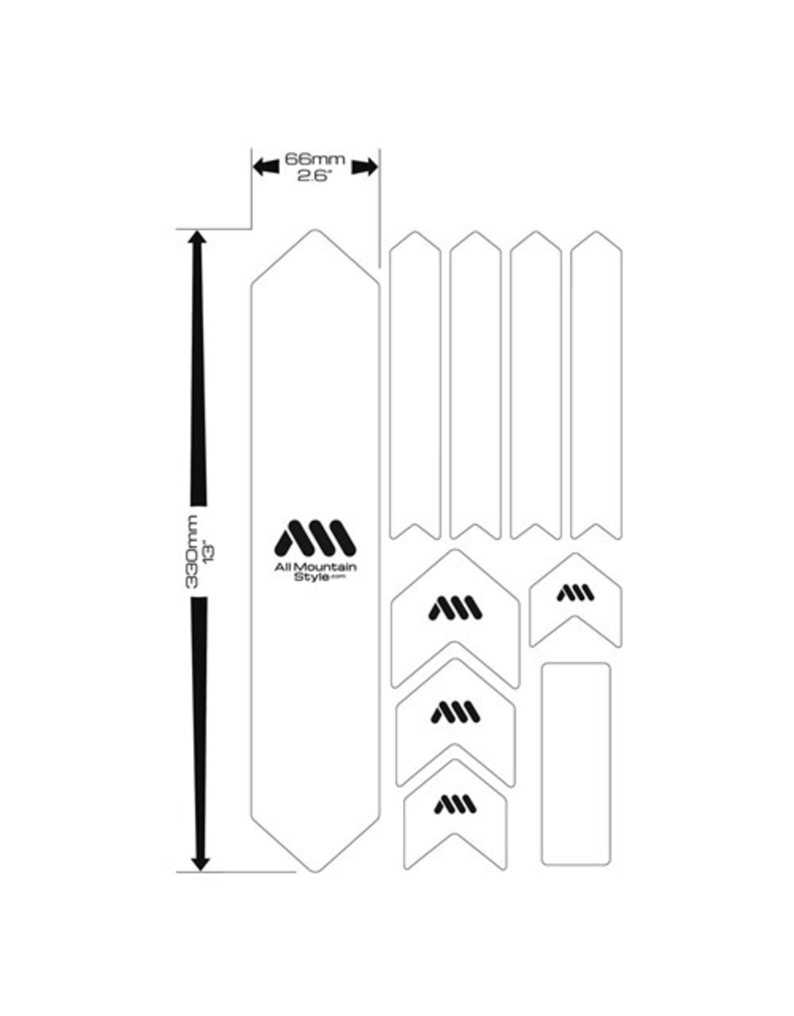 ALL MOUNTAIN STYLE FRAME PROTECTION ALL MOUNTAIN STYLE (AMS) FRAME GUARD XL BLACK /SILVER