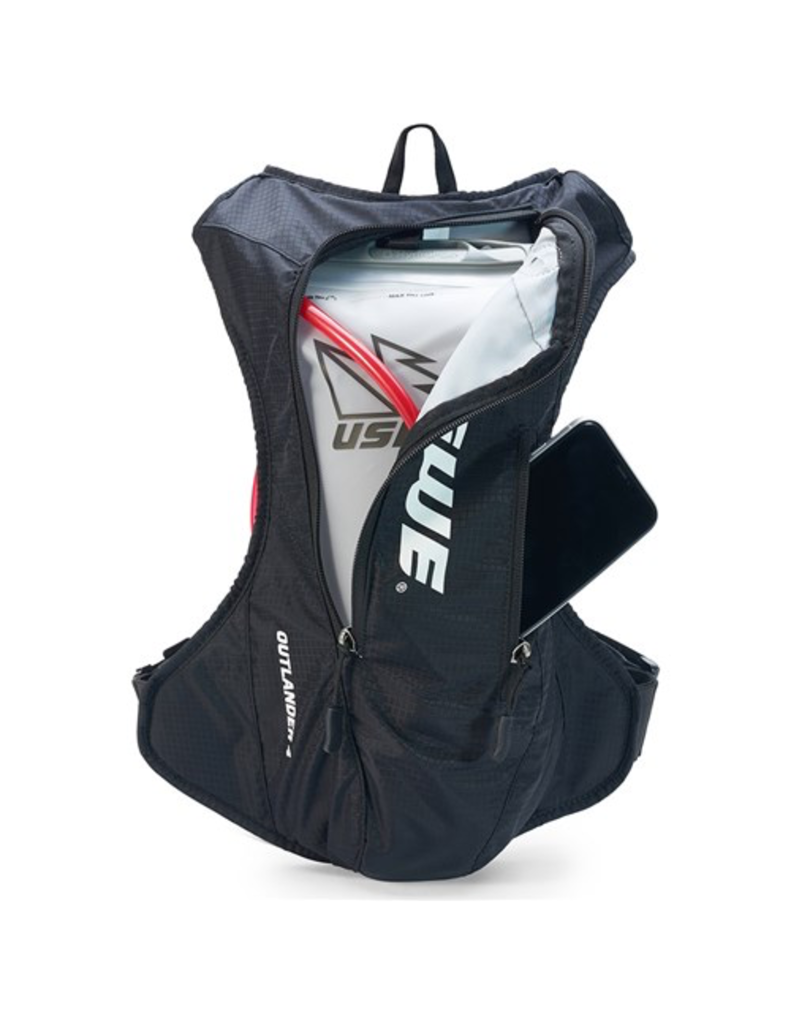 USWE HYDRATION BAG USWE 20 OUTLANDER 4 PACK 2.5/3.0L SHAPE SHIFT BLACK