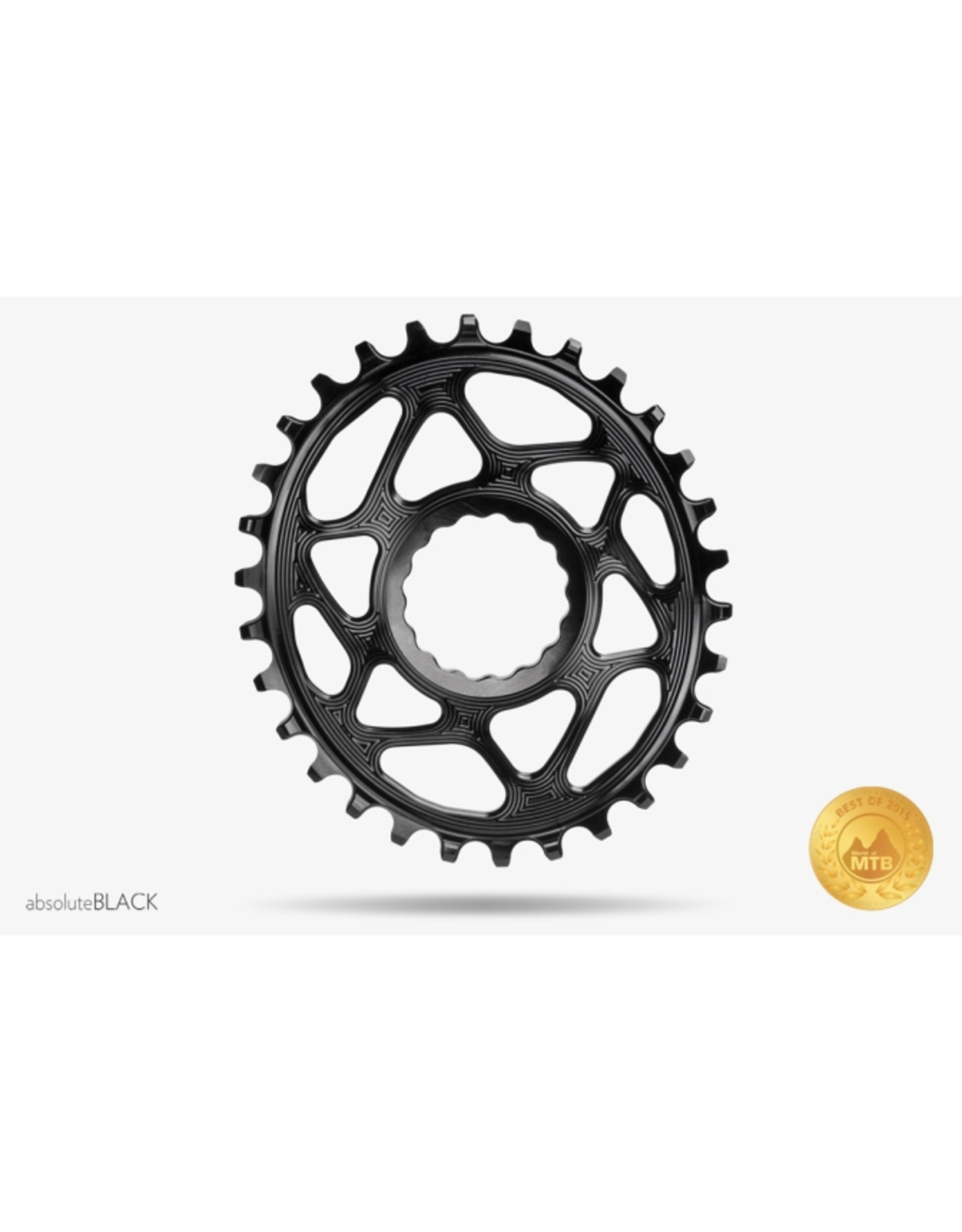 ABSOLUTE BLACK CHAINRING ABSOLUTE BLACK OVAL RACEFACE BOOST CINCH DIRECT MOUNT 34T BLACK